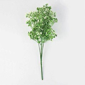 Flor Permanente Verde com Branco