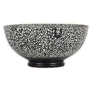 Bowl de Porcelana Preto e Branco