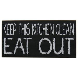 "Quadro Negro ""Keep This Kitchen Clean"""