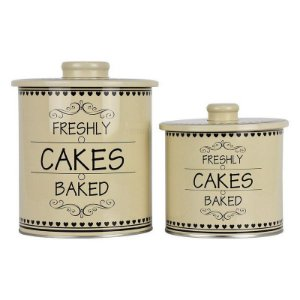 Jogo c/2 Latas em metal Cakes