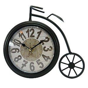 Relogio Bicicleta em Metal Preto