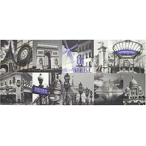 PLACA 3D BLUE PARIS