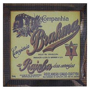 Quadro Cerveja Brahma Amarelo