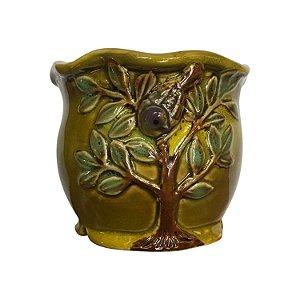 Mini Vaso Árvore Amarelo