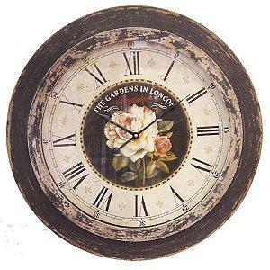 Relógio Grande Rosas