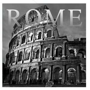 Placa Decorativa Rome em Vidro