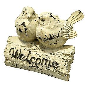 Enfeite Welcome Pássaros