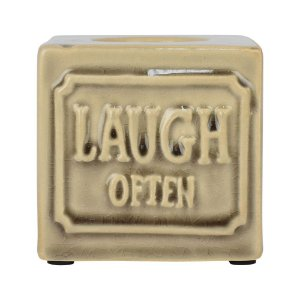PORTA VELAS LAUGH OFTEN