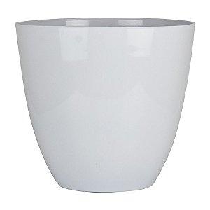 Vaso Prestige Branco Grande em Plástico