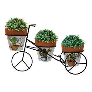 Bicicleta Rústica c/3 Vasos