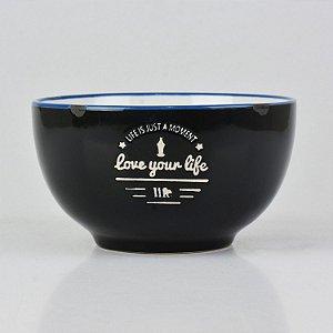 Bowl Your Life Preto em Cerâmica