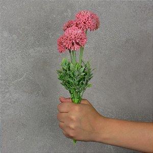 Flor Permanente Mini Dália Rosa