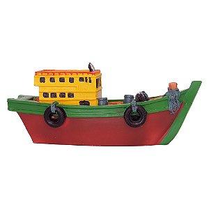 Enfeite Barco Grande em Resina (Sortido)