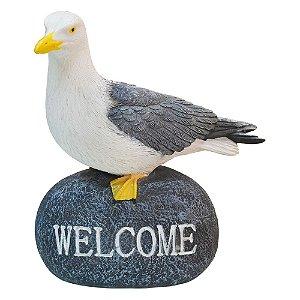 Gaivota Welcome em Resina