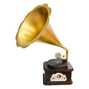 Gramofone Retro em Resina