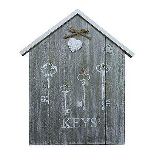 Porta Chaves Keys em Madeira