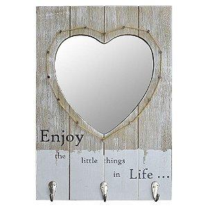 Cabideiro com Espelho Enjoy Life...