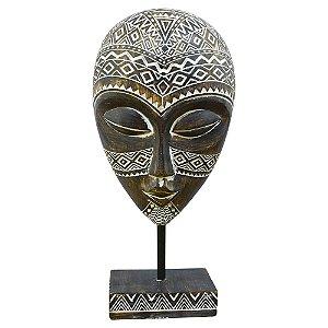 Máscara Tribal Africana Médio em Madeira