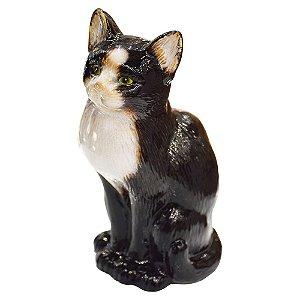 Enfeite Gato Preto em Cerâmica