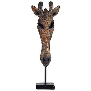 Enfeite Máscara Girafa Africana em Resina