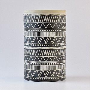 Vaso Havana com Riscos em Cerâmica