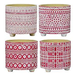 Conjunto de Vasos Formas Abstratas C/4 vasos