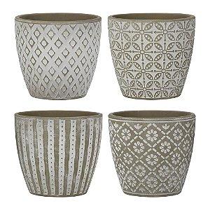 Conjunto C/4 Vasos Formas Geométricas