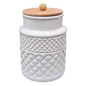 Pote Organizador em Cerâmica Branco