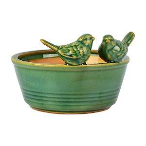 Vaso em Cerâmica Pássaros