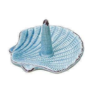 Porta Anel Concha em Cerâmica