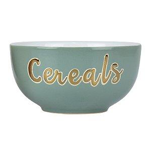 Bowl Cereals Verde em Cerâmica