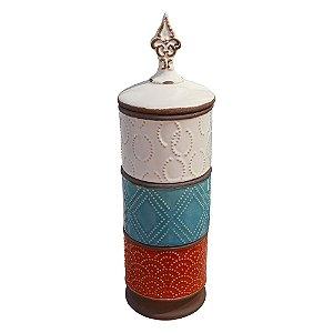 Vaso Triplo Onix em Cerâmica