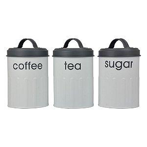 Conjunto de Latas Coffee e Tea 3 peças