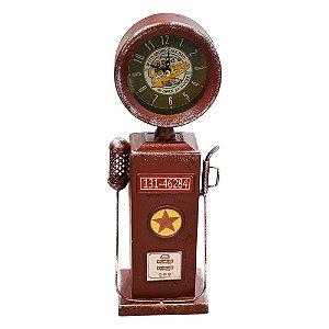 Relógio Bomba Vermelho em Metal
