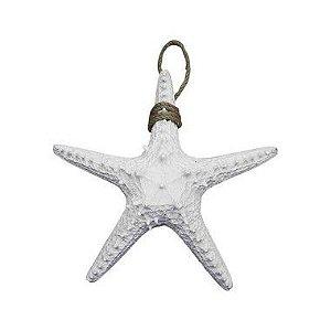 Enfeite Estrela do Mar Branca Pequena em Resina