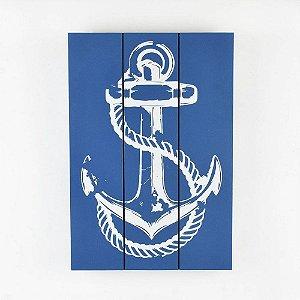 Quadro em Madeira Azul Âncora