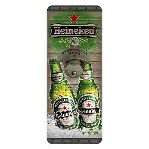 Abridor de Garrafa de Parede Quadrado Heineken