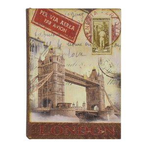 Porta Objetos Livro Londres 22x16x7