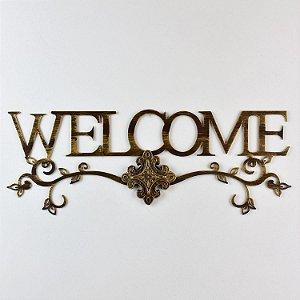 Enfeite Welcome em Metal