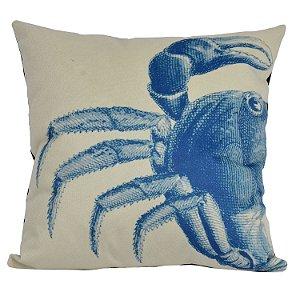 Almofada Náutica Caranguejo Azul e Branco