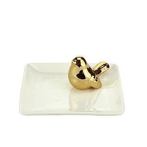 Porta Anéis Pássaro Gold