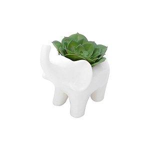 Vaso Elefante Branco
