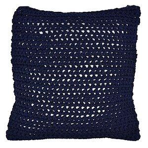 Almofada de Crochê Azul