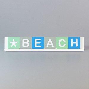Enfeite Palavra BEACH em Madeira