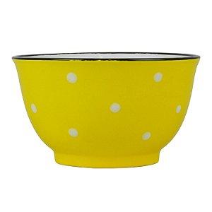 Bowl Amarelo Pontilhado em Cerâmica