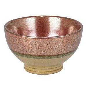 Bowl Bronze e Bege em Cerâmica