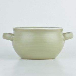Bowl Cauldron Cinza em Cerâmica