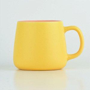 Caneca Color Amarela em Cerâmica
