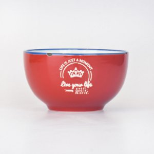 Bowl Your Life Vermelho em Cerâmica