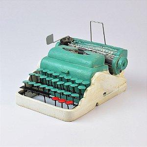 Miniatura Máquina de Escrever Azul em Resina
